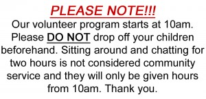 Volunteers notice