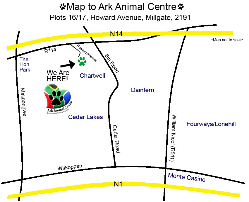 Map-to-Ark-Animal-Centre-Millgate